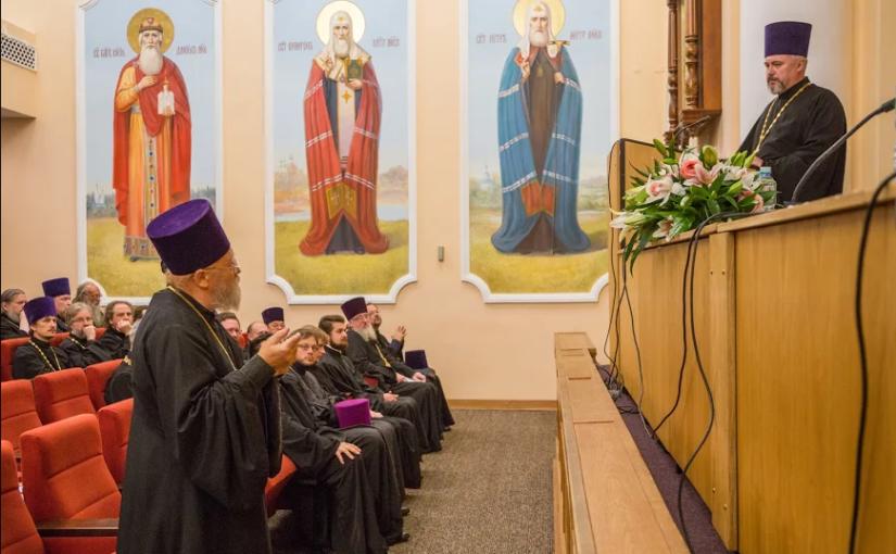Выступление председателя Комиссии  на  собрании  духовенства Центрального викариатства г. Москвы