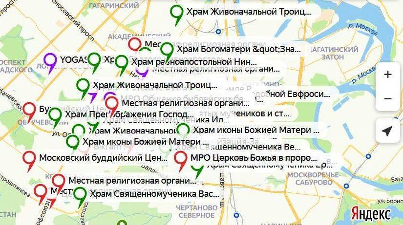 Миссионеры ЮЗАО актуализировали карту миссионерского поля